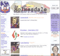 The website in 1999